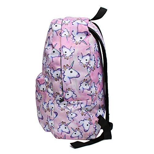 unicorn backpack side view