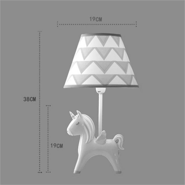 Unicorn LED Table Lamp Bedroom Bedside Lamp DImensions