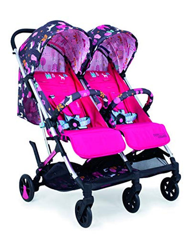 unicorn double buggy stroller cosatto