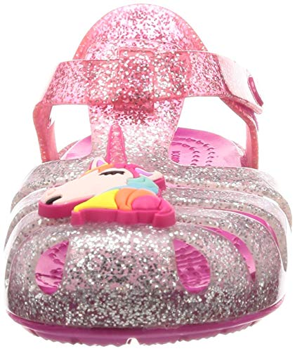 Unicorn pink jellies kids girls silver glitter