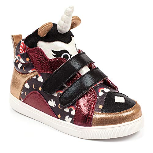Irregular Choice Black Gold Red Unisex Trainer Children