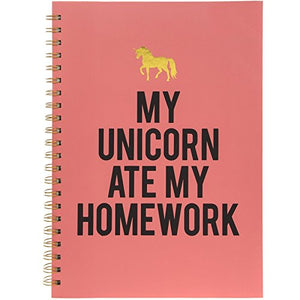 My Unicorn ate my Homework - A4 Spiral hard cover notebook