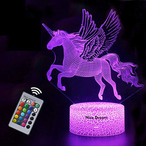 Unicorn Kids Night Light | Colour Changing | Bedside Lamp
