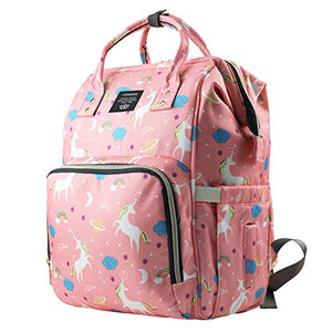 Unicorn Design - Baby Changing Bag - Back Pack - Pink
