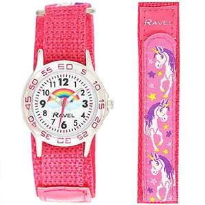 RAVEL - Pink Girls Analogue Classic Quartz Watch - Unicorn Design
