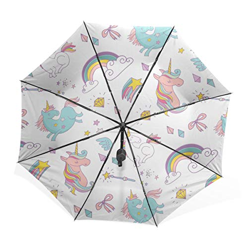 Unicorn Patterned Umbrella For Women & Kids
