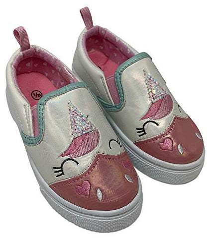 Unicorn slip on shoe girls pink
