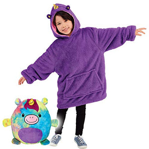 Super Soft Unicorn Oversized Hoodie Blanket | Purple | Kids