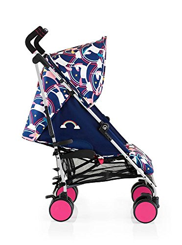 Cosatto super go pushchair push chair buggy pram easy to clean unicorn rainbow theme fold pink wheels