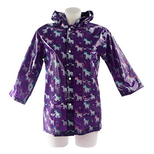 Rainbow Unicorn Raincoat | Small | Purple