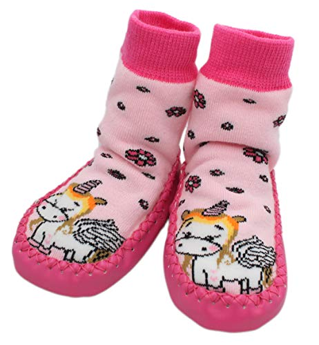 Baby Unicorn Kids Slipper Socks Anti-slip Pink Unicorn (9-18 Months)