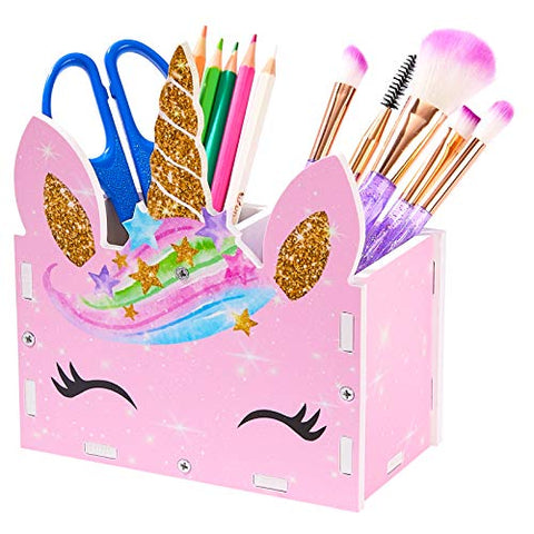 Unicorn Pencil Pen Pot Holder | Desk Tidy Organiser | Pink