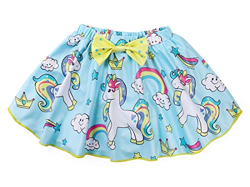 Girls Unicorn Swimming Costume Childrens Blue