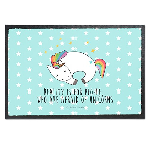 The Perfect Way To Enter Your Home - Fun Black Unicorn Doormat Unicorns Welcome