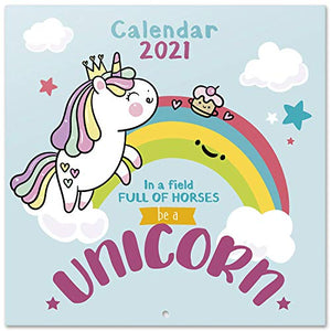 Official Unicorn 2021 Wall Calendar | Family Planner