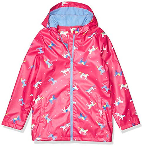 Joules Girls' Unicorn Raindance Raincoat | Pink