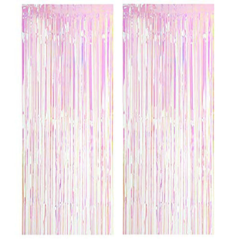 Unicorn Themed Party Shimmer Curtains Decoration
