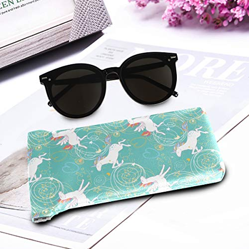 Unicorn sunglasses case rainbows stars