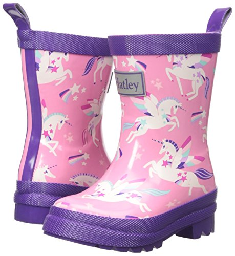Stylish, trendy - Flying magical unicorn welly boots wellington boots, pink