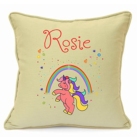 Personalised Colourful Unicorn Cushion Cover