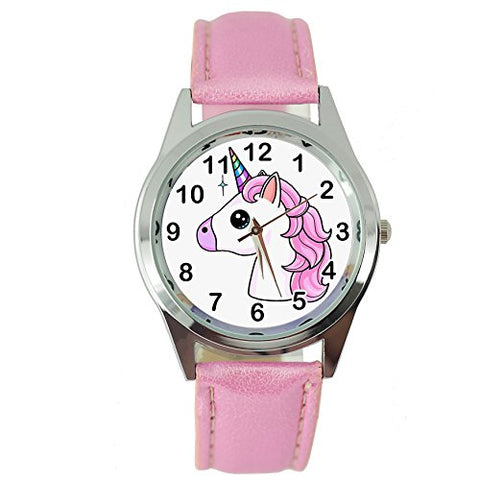 Cute unicorn watch with pink straps