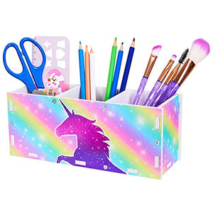 Unicorn Rainbow Kids Pen Holder | Desk Tidy | Home Schooling