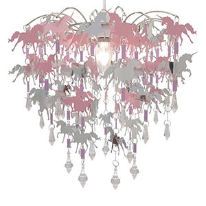 Unicorn Chandelier Pink, Purple, Silver