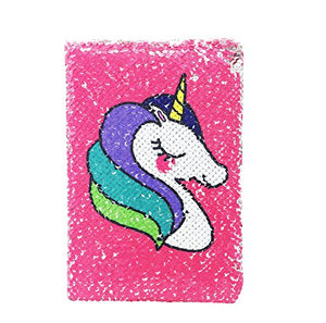 Unicorn Design Reversible Sequin A5 Journal | Pink