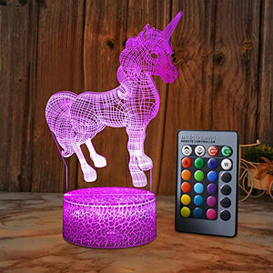 Colour Changing Unicorn LED Night Light Lamp | Gift Idea