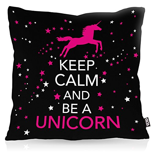 Keep Calm Unicorn Cushion Cover 50x50cm