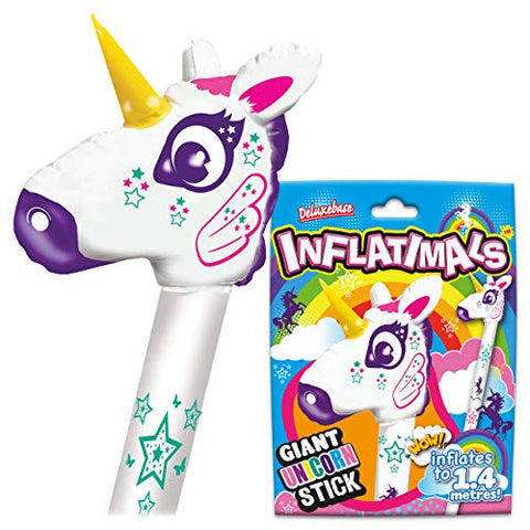 Blow Up Giant Inflatable Unicorn Stick | Novelty Gift | Stocking Filler