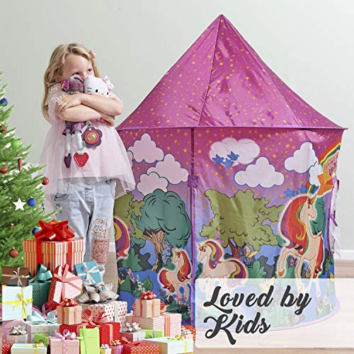 Unicorn play tent for girls