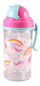 Floss & Rock Flip Straw Water Bottle - Fairy Unicorn