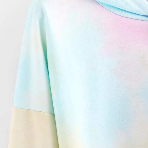Unicorn Pastel Colours Low Cut Hoody For Women