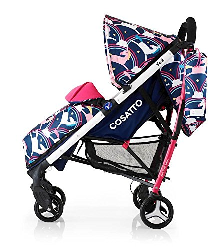 cosatto unicorn pram pushchair push chair stroller buggy rainbows unicorns magic review, footmuff