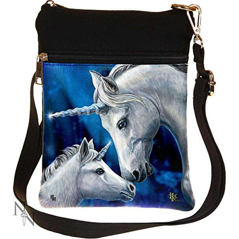 Nemesis Now Sacred Love Lisa Parker Shoulder Bag 23cm Black | Unicorn