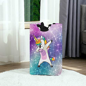 Dancing Rainbow Unicorn Laundry Bag With Handles