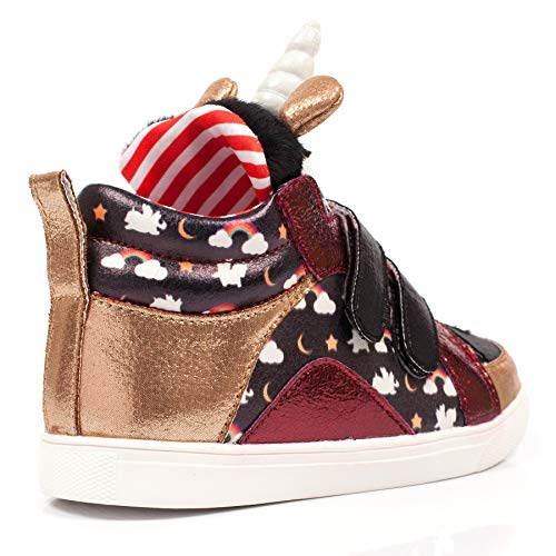 Rainbow Unicorn Gold Kids Trainer