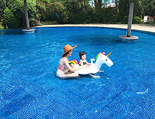 cfd8b3676054 Unicorn Swim Ring Inflatable Kids Inflatable Unicorn Seat for Children Swim  Ring Baby Inflatable Pool Float with Towing Rope Child Seat Inflatable ...