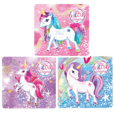 Unicorn 3 piece set puzzles
