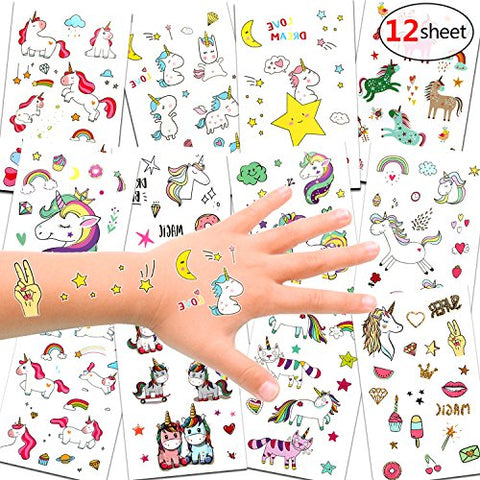 Unicorn Temporary Tattoos For Kids | Stocking Filler Idea