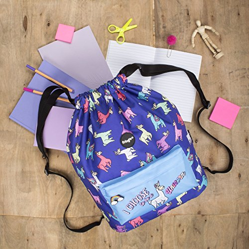 Blue Unicorn Backpack with Pencil Case