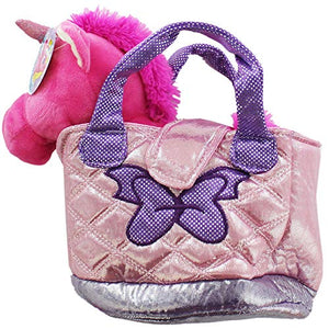 unicorn pet carrier toy in bag