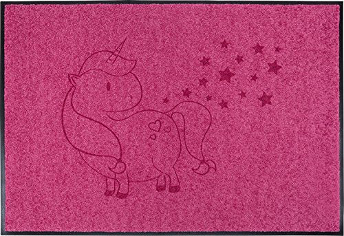 Even your postman will love this unicorn pink stars girls doormat