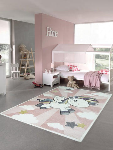 Unicorn rug with stars