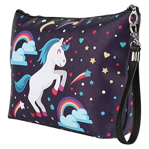 Unicorn blue make up bag, toiletries, perfect for travel or home.