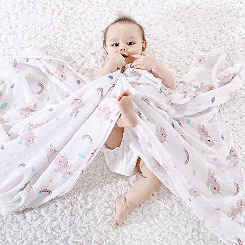 Unicorn Muslin Blanket For Baby