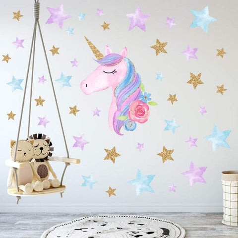 unicorn wall decoration sticker