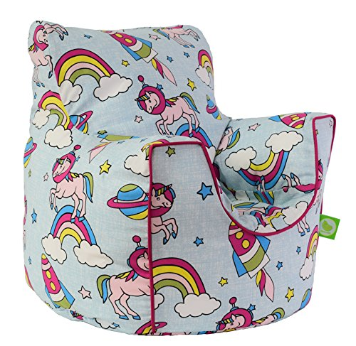 Ultimate Unicorn Pastel Rainbow Bean Bag Arm Chair with Beans Toddler