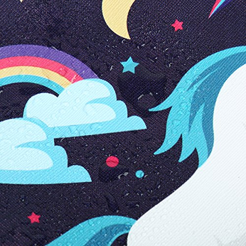 Rainbow, cloud, unicorn make up bag